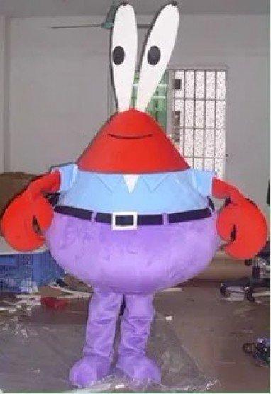 Cartoon Costumes Walking Cartoon Dolls Cartoon Doll Dress Performance Props Crab Krabs Mascot Costume
