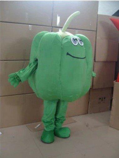 Cartoon Costumes Walking Cartoon Dolls Cartoon Doll Dress Performance Props Vegetables Green Pepper Mascot Costume