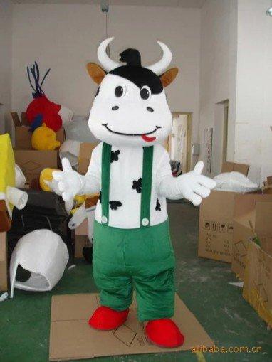 Cartoon Costumes Walking Cartoon Dolls Cartoon Doll Dress Performance Props Cows Mascot Costume