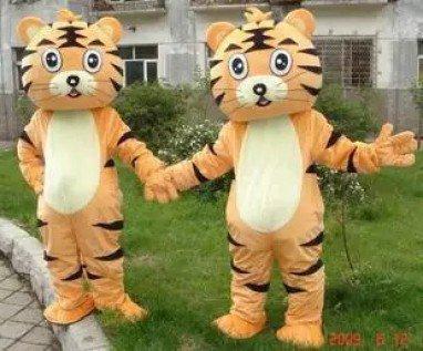 Cartoon Costumes Walking Cartoon Dolls Cartoon Doll Dress Performance Props Tiger Mascot Costume