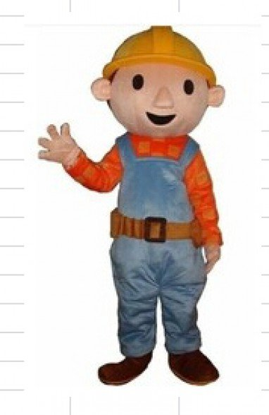 Cartoon Costumes Walking Cartoon Dolls Cartoon Doll Dress Performance Props Bob The Builder Mascot Costume