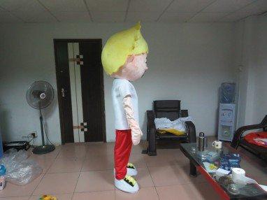 Hong Kong Ordered The Mall Mascot Costume Smiling Boy Walking Cartoon Show Cartoon Dolls Clothing Props