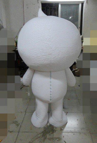 Mobile Power White Snowman Cartoon Dolls Head Quality Fabrics L Electronics Technology Cartoon Clothing Mascot Costume