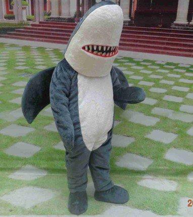 Ocean Anime Cartoon Dolls Cartoon Clothing Canine Teeth Shark Model Dolls Walking Clothing Mascot Costume