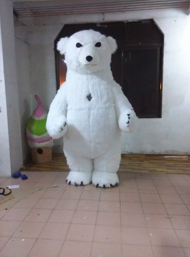 Pattern Polar Bear Walking Doll Cartoon Clothing Cartoon Doll Doll Cartoon Clothing Performance Clothing Props Mascot Costume