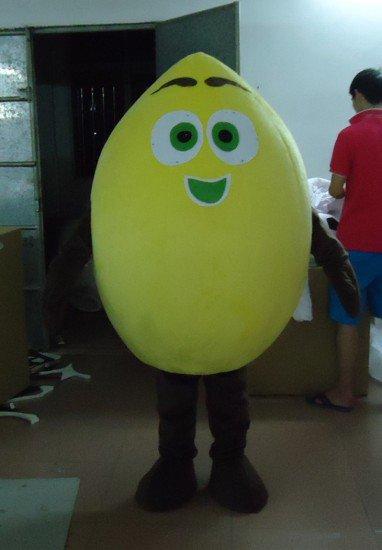 Professional Performers Walking Cartoon Doll Clothing Lemon Yellow Lemon Cartoon Mascot Costume Suit