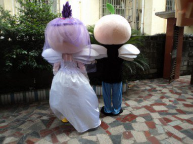 2014 Wedding Wedding Essential Cartoon Costumes Snow White Angel Wings Cartoon Doll Single Set Price Mascot Costume