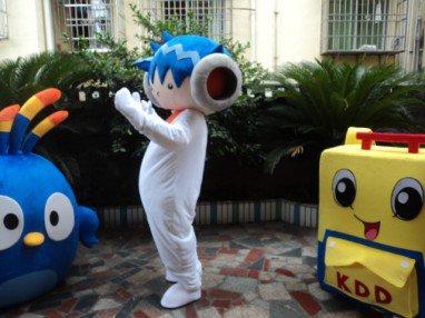 Big Ears Blue Hair Robot Can Walk Cartoon Doll Cartoon Characters Dress Up Cartoon Clothing Cos Game Mascot Costume