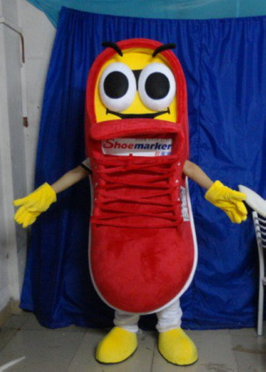 Brand Canvas Shoes Cartoon Dolls Corporate Promotional Clothing Cartoon Show Courage Shoe Marker Mascot Costume
