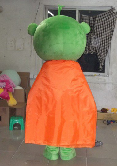 Emerald Green Eyes Cloak Mouth Cartoon Dolls Cartoon Clothing Design Personalized Logo Mascot Costume