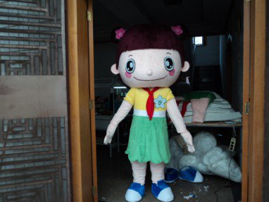Flowers Doll Wearing A Red Scarf Cos Clothing Animation Cartoon Dolls Siblings Big Head Cartoon Costumes Mascot Costume