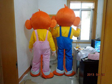 Zhejiang Mini Big Ears Monkey Cartoon Dolls Youxihou Single Set Price Yo Monkey Cartoon Clothing Mascot Costume
