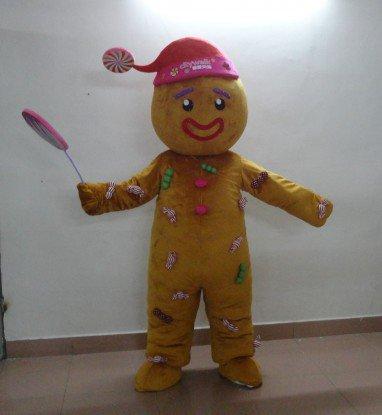 Beijing Cartoon Doll Citywalk Corporate Mascot Clown Ginger Candy Fruit Man Cartoon Clothing Mascot Costume