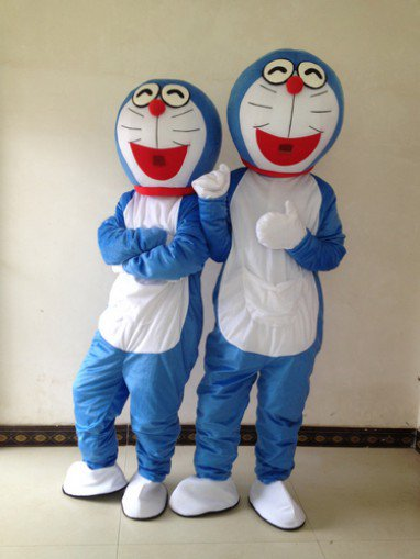 Cartoon Doll Clothing Manufacturers Jingle Cats Duo A Dream Nobita Mascot Cartoon Costumes with Bells Mascot Costume
