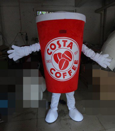 Coffee Beverage Cup Cup Summer New Cartoon Dolls Cartoon Clothing Cold Fruit Juice Coke Cup Mascot Costume