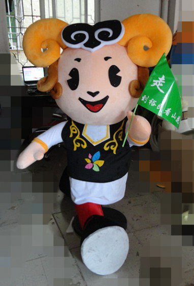 2014 Goat Cartoon Dolls Cartoon Clothing Shop Local Tourist Welcoming Place Sheep Cartoon Clothing Mascot Costume