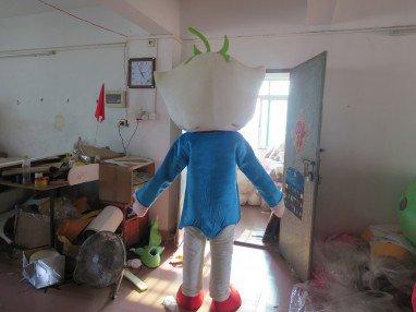 Blue Doll Mascot Costume Cartoon Character Cartoon Logo Customized Corporate Mascot Dolls Props