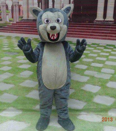 Canine Teeth Bear Body Filling Cotton Dolls Model Animation Cartoon Bear Doll Clothing Cos Mascot Costume