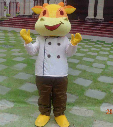 Diet Cookery Anime Cartoon Dolls Cartoon Clothing Cook Beef Gas Soaring Zodiac Mascot Mascot Costume