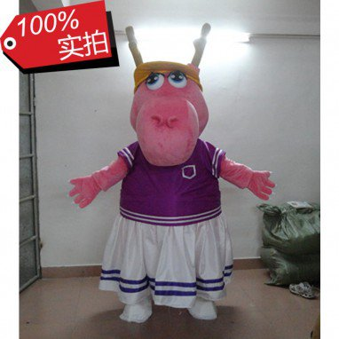 Hong Kong Dragon Cartoon Doll Christmas Breathable Fabric White Summer Dress with A Fan Is Dragon Cartoon Clothing Shoes Mascot Costume