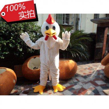 Walking Cartoon Doll Clothing Cartoon Costumes Cartoon Doll Clothing Poultry Rooster White Rooster Mascot Costume