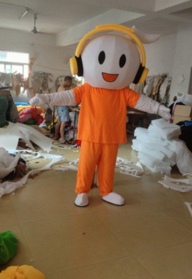 Migu Walking Doll Cartoon Clothing Doll Clothes Wedding Dress Mascot Costume
