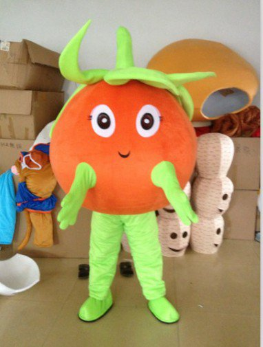 Tomato Cartoon Animation Clothing Plush Doll Clothes Dress Clothes Mascot Costume