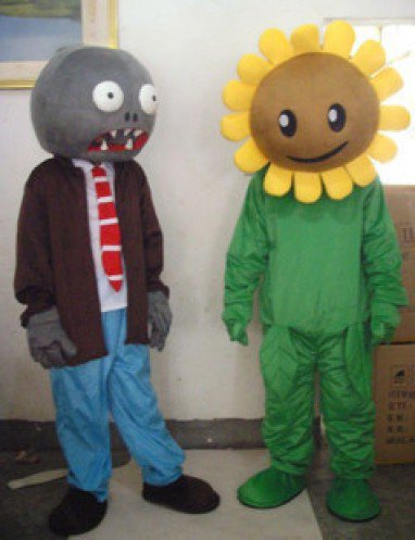 Zombies Halloween Cartoon Doll Clothing Performance Clothing Performances Props Sunflowers Mascot Costume