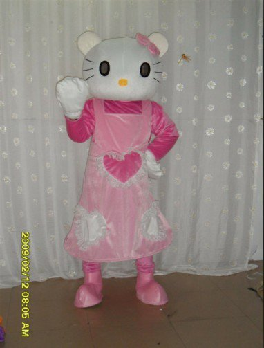 Kt Wedding Dress Dolls Walking Cartoon Dolls Clothing Apparel Mascot Costume