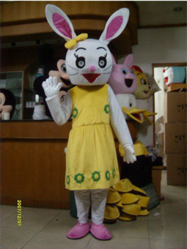 Super Cheap Theatrical Costume Plush Rabbit Toys Clothing Wedding Supplies Mascot Costume