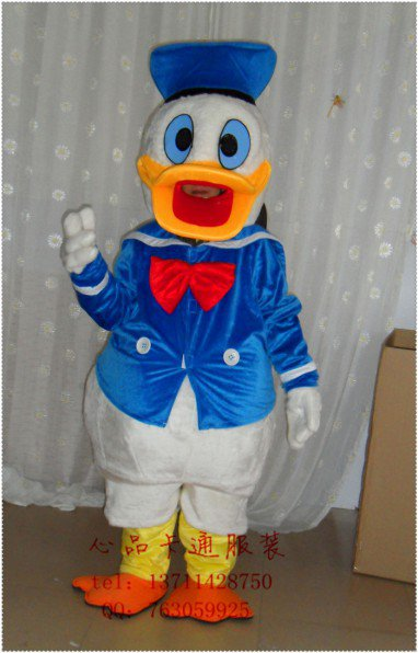 The Old Cartoon Duck Cartoon Dolls Clothing Wedding Supplies Section of Japanese Books Supplies Festive Clothing Donald Duck Mascot Costume