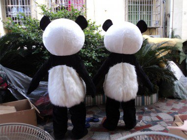 Panda Mascot Cartoon Dolls Walking Cartoon Doll Clothing People Wear Clothes Spokesperson Caps Mascot Costume