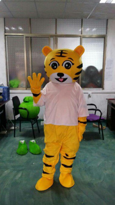 Little Tiger Doll Cartoon Walking Doll Clothing Tiger Costume Props Performance Clothing Performance Apparel Mascot Costume