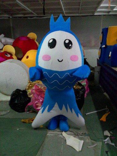 Shanghai Cartoon Doll Clothing Doll Clothing Small Crucian Carp Bulk of Walking Doll Clothing Mascot Costume