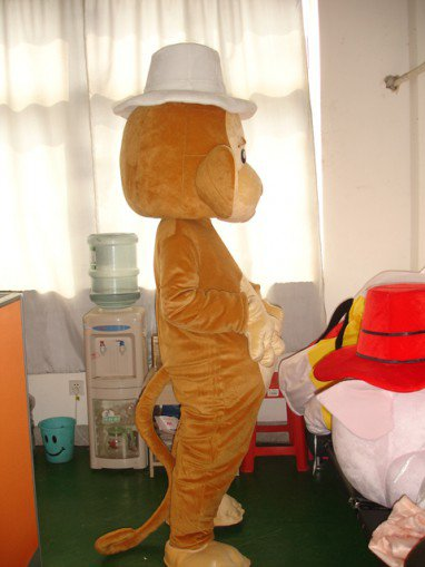 Shanghai Cartoon Dolls Loaded Bulk of The Small Monkey Jumping Monkey Cartoon Gorilla Costume Mascot Costume
