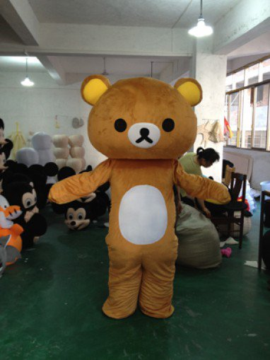 Easily Bear Dolls Walking Clothing Curious Bear Doll Clothing Cartoon Walking Doll Lazy Bear Caps Mascot Costume