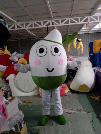 Shanghai Cartoon Costumes Cartoon Rice Paddy Rice Costumes Decorated Walking Doll Clothing Mascot Costume