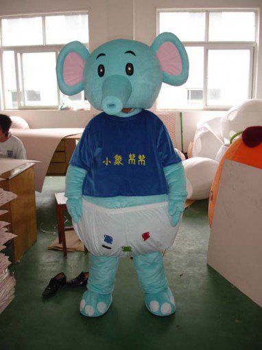 Shanghai Cartoon Dolls Cartoon Elephant Costumes Help Little Elephant Cartoon Clothing Cartoon Ornaments Mascot Costume