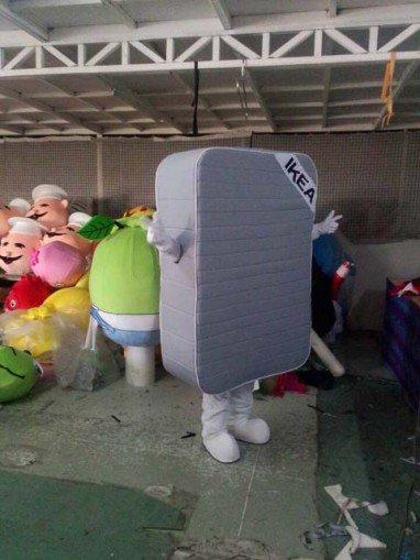 Simmons Mattress Bed Doll Cartoon Costumes Performing Props Linen Headgear Walking Doll Clothing Mascot Costume