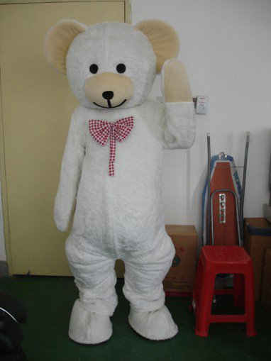 White Bear Cartoon Clothing Raging Brother Brother Walking Cartoon Dolls Dress Stage Costumes Mascot Costume