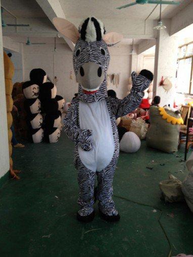 Zebra Cartoon Clothing Cartoon Dolls Walking Cartoon Donkey Costume Props Performance Clothing Mascot Costume
