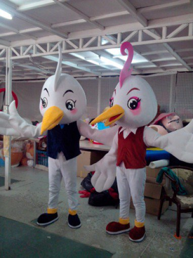 Bai Hefei Birds Walking Doll Cartoon Clothing Props Mascot Cartoon Show Clothing Apparel Companies Mascot Costume