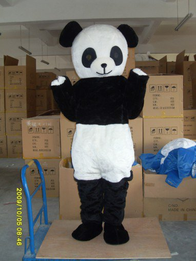 Panda Costumes Panda Brother Cartoon Dolls Movable Dolls Clothing Walking Doll Clothing Mascot Costume