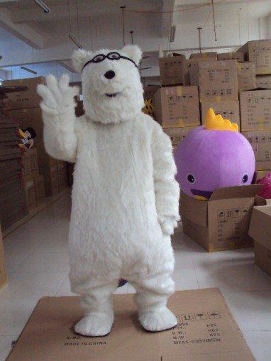 Shanghai Cartoon Dolls Cartoon Polar Bear Polar Bear Costume Props Walking Dolls Doll Clothing Mascot Costume