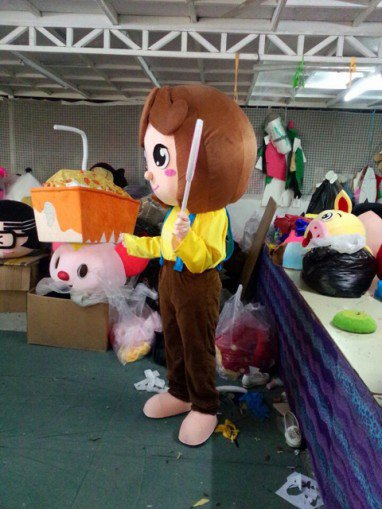 Shanghai Cartoon Dolls Little Girl Lollipop Girls Cartoon Clothing Walking Doll Clothing Mascot Costume