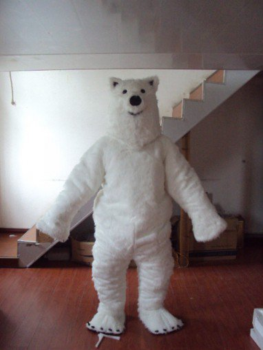 Shanghai Polar Bear Walking Cartoon Doll Clothing Doll Clothing Cartoon Polar Bear Toy Doll Clothing Mascot Costume