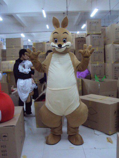 Kangaroo Doll Clothing Cartoon Costumes Performing Animal Costumes Cartoon Doll Cartoon Costumes Headgear Mascot Costume