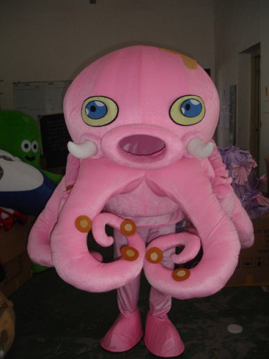 Squid and Octopus Cartoon Doll Clothing Doll Clothing Cartoon Octopus Cartoon Character Walking Doll Mascot Costume