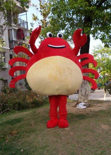 Crab Seafood Cartoon Doll Clothing Cartoon Costumes Marine Animal Cartoon Adult Cartoon Clothing Mascot Costume
