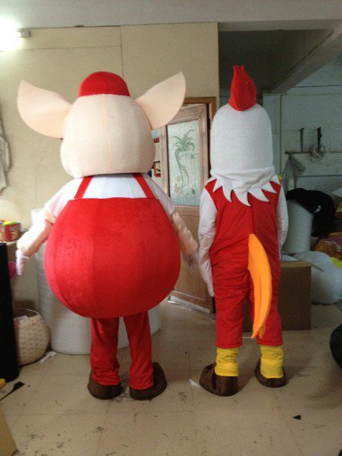 Happy Pig Happy Chickens Walking Doll Cartoon Clothing Cartoon Doll Doll Cartoon Costumes Performing Props Cartoon Mascot Costume